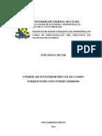 O PERFIL DO INVESTIDOR PRIVATE DO CAMPOversão impressão