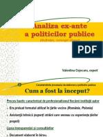 4-Analiza ex-ante a politicilor publice (definiţie, concept, etape)