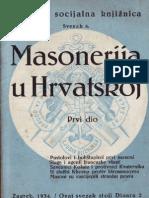 MOSK Masonerija u Hrvatskoj I Dio