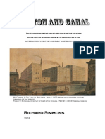 Cotton and Canal - An examination of the impact of canals on the location of the cotton spinning industry in Manchester in the late eighteenth century and early nineteenth centuries