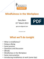 Mindfulness in the Workplace Masterclass