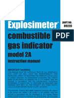 Explosimeter 2A Instruction Manual