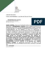 RESUMEN DE EDCITO CASO N°585- 2012