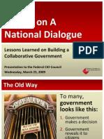National Dialogue Presentation to the Federal CIO Council