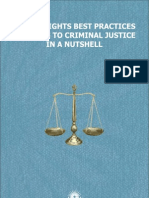 HUMAN RIGHTS BEST PRACTICES RELATING TO CRIMINAL JUSTICE IN A NUTSHELL