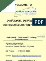DVR2000E Training--SECT #1 (Overview)
