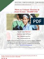 Voyage Photo  Passions de Vietnam 16 jours - Dès 1045 USD