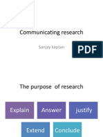 Communicating Research