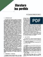 Literatura latina perdida - LÓPEZ DE JUAN, C.
