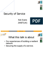 JANET Security of Service
