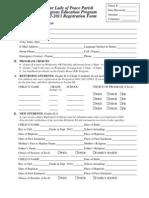 2013-2014 Registration Form