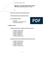 Environmental Law and Procedural Laws Outline