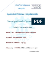 Investigación de Operaciones - Unidad 1
