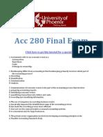 Acc 280 Final Exam