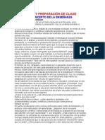 PLANEACIÓN Y PREPARACIÓN DE CLASE