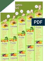 Tabelul Diversificarii alimentatiei