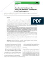 Beyond Species - Functional Diversity and the Maintenance of Ecological Processes and Services