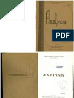 Analisis - Alimin (1947)