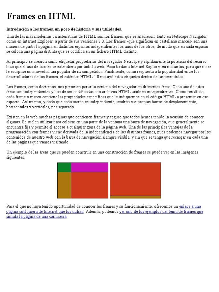 Frame Html Ejemplo – cframe
