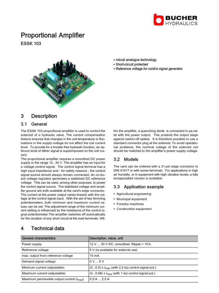 Essk103 100 P 700004 E 06 Electrical Connector Amplifier 12 Volt Solenoid Wiring Diagram 5 Connection