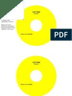 CD Etiketten Vorlage 116mm Dario