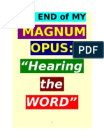 "END of my MAGNUM OPUS, ""HEARING the WORD"" AUDIO BIBLE"
