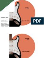 CD-Etiketten-Vorlage 116mm Motiv E Gitarre