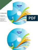 CD-Etiketten-Vorlage 116mm Motiv Graphisch