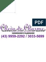 Adesivo Cheia de Charme Vidro