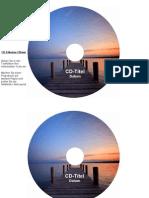 CD-Etiketten-Vorlage 116mm Motiv Steg