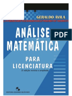 Análise para  Licenciatura G,Ávila completo