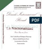 Analicis de Nacionalidad.