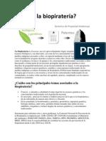 Qué es la biopiratería