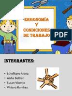 ERGONOMÍA Y CONDICIONES DE TRABAJO seguridad