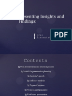 Presenting Insights and Findings