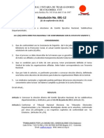 RESOLUCIÓN 001-12 CONVOCATORIA ELECCIONES-2