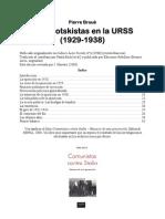 Broué - Trotskistas en la URSS