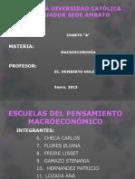 1.2 Escuelas Del Pensamiento Macroeconomico 6.Checa 7.Flores 8.Freire 9.Gamazo 10.Hernandez 11.Lozada M.a 2013