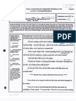 Observation Notes- Running Record/ Miscue Analysis