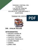 TRABAJO DE COSTOS COSTEO DIRECTO Y POR ABSORCIÓN