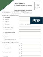 Formulir Pendaftaran 2013