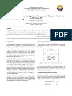 Implementación y Uso de Algoritmo Recursivo de Mínimos Cuadrados en Circuito RC