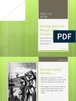 immigration as result of the potato famine
