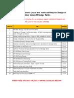 Storage tanks calculations
