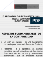 Plan Contable Gubernamental 2009