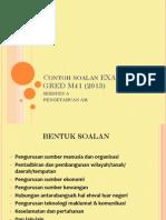 Contoh Soalan EXAM PTD GRED M41 (2013) PDF