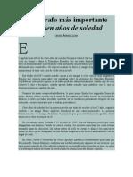 Javier Aranda Luna - El párrafo más importante de Cien Años de Soledad