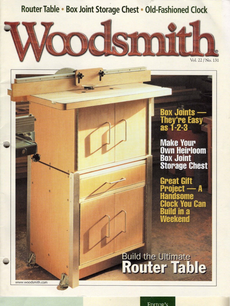 Woodsmith 131 - Build the Ultimate Router Table | Cabinetry | Plywood