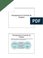 Planejamento & Controle de Projetos