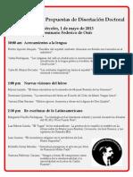 Flyer presentación propuestas